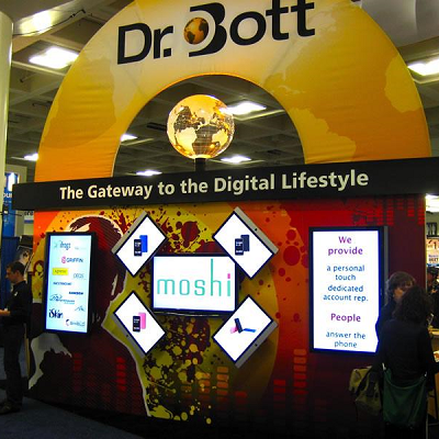 Genesis Exhibits Trade Show Booth Digital Signage